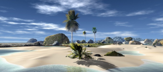 3D Beach Wallpaper