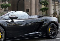 Supercar Black Lamborghini Gallardo
